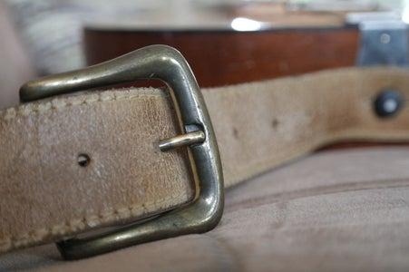 Belt Strap on Vintage Guitar