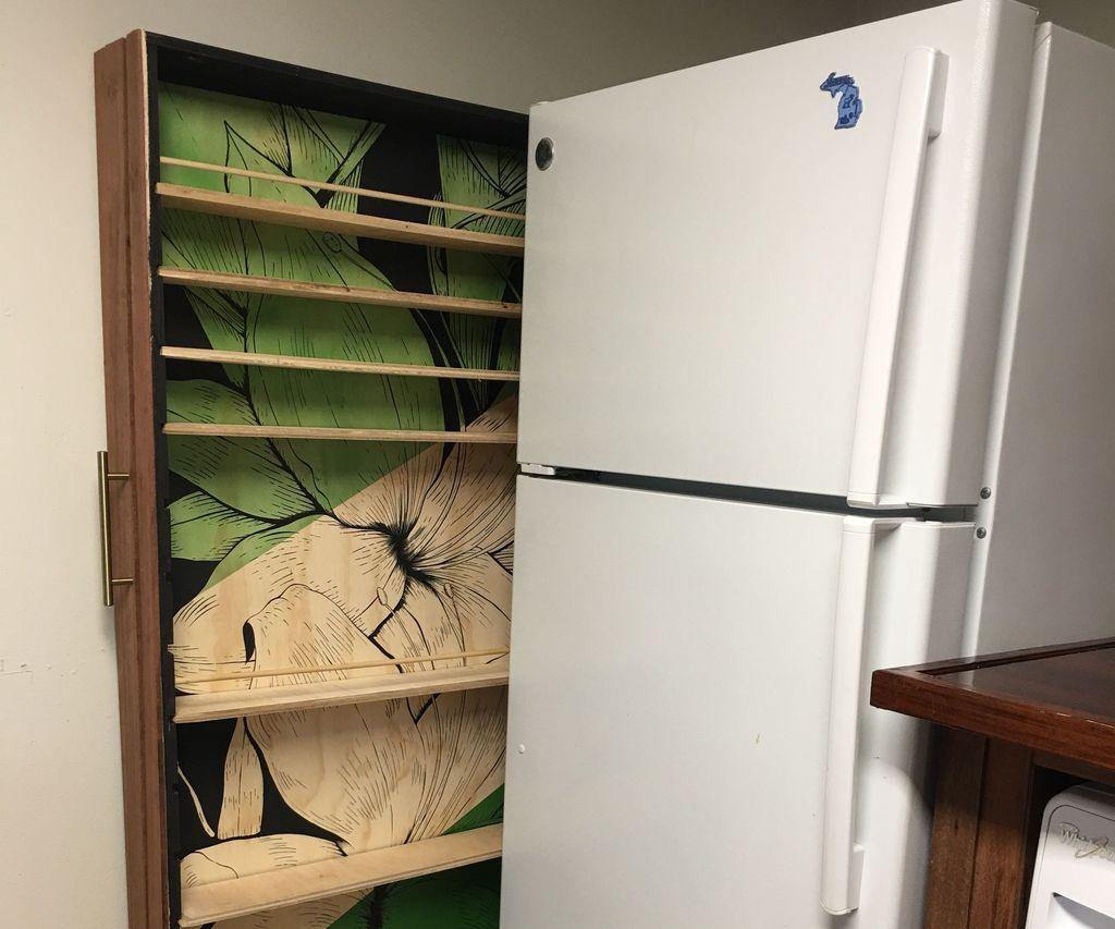 Slide Out Refrigerator Cabinet