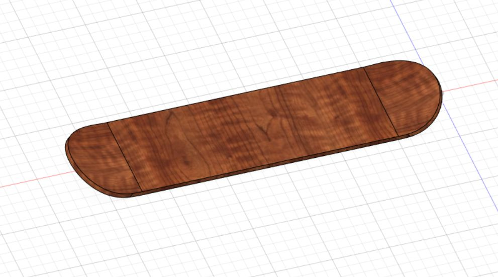 Picture of The First Step Is to Construct the Wooden Surface of the Skateboard