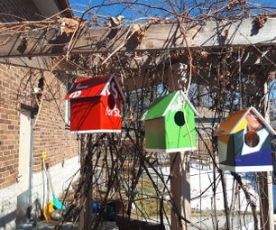 Bird Housed Made From Election Signs