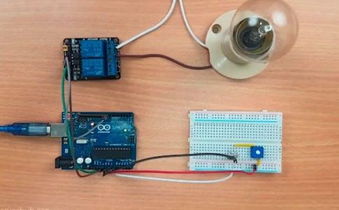Arduino Based Automatic AC Bulb Triggered in Dark