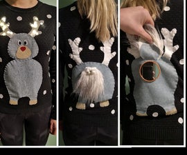 'Look Inside the Reindeer' Sweater