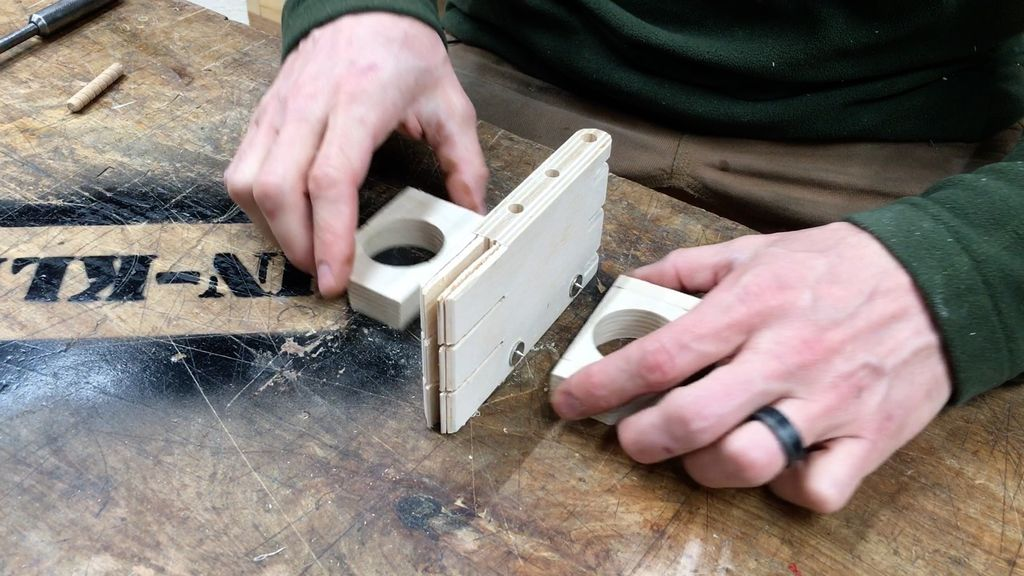 Picture of Drill Holes for Base Dowel Joints