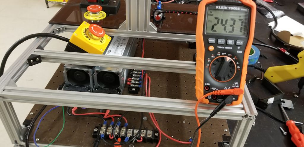 Picture of Checking the Output Voltage