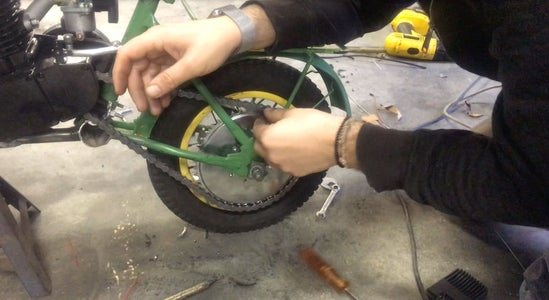 Add the Sprocket and Chain