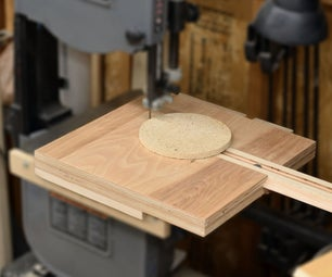 Simple Band Saw Circle Cutting Jig