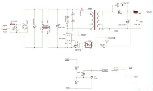 12V 1A SMPS Power Supply Circuit Design