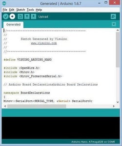 Generate, Compile, and Upload the Arduino Code