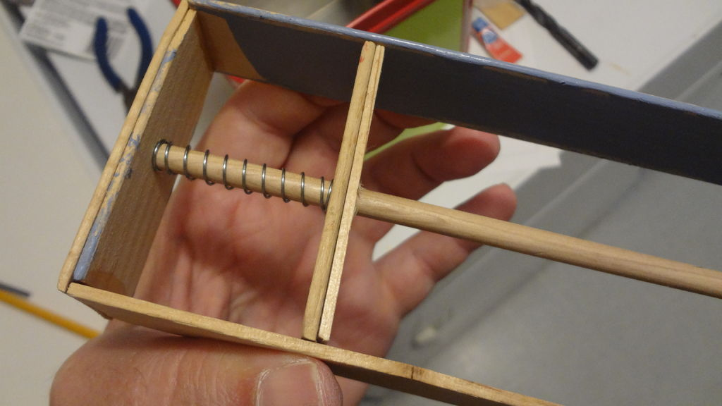 Picture of Constructing the Pop Out Hands Mechanism.