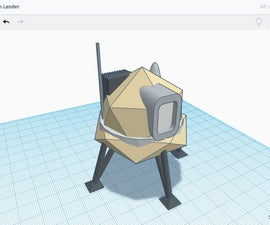 Design a Moon Lander in Tinkercad