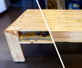 Pallet Coffee Table With Secret Compartment and Invisible Wheels