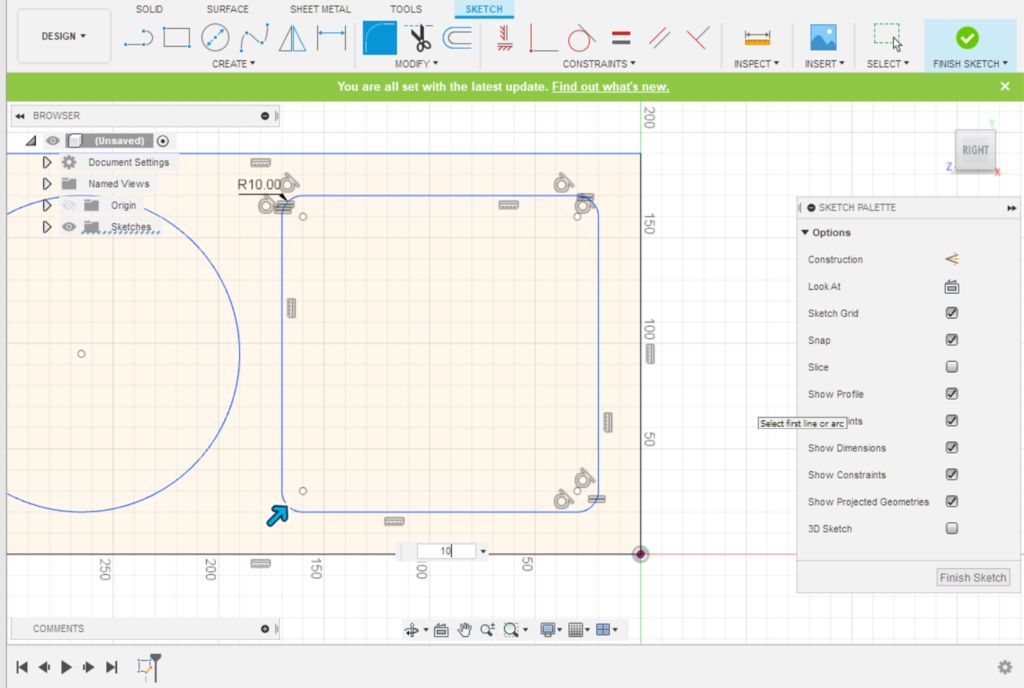 Picture of Fusion 360 Design: Adding 2D Corner Filets