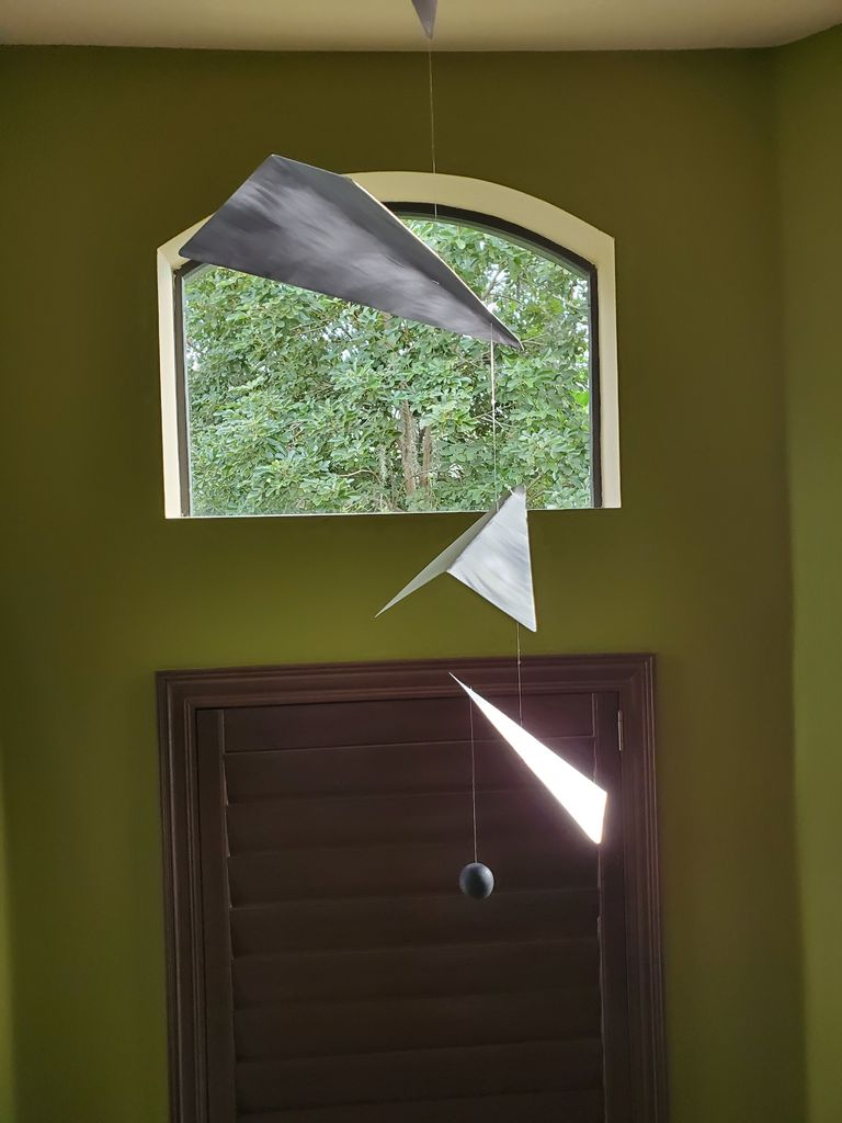 Picture of Modern Aluminum Paper Airplanes Mobile