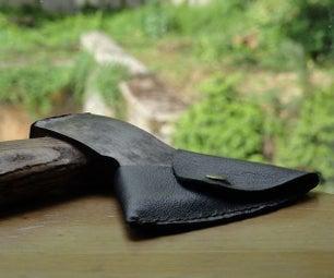 皮革斧头护套
