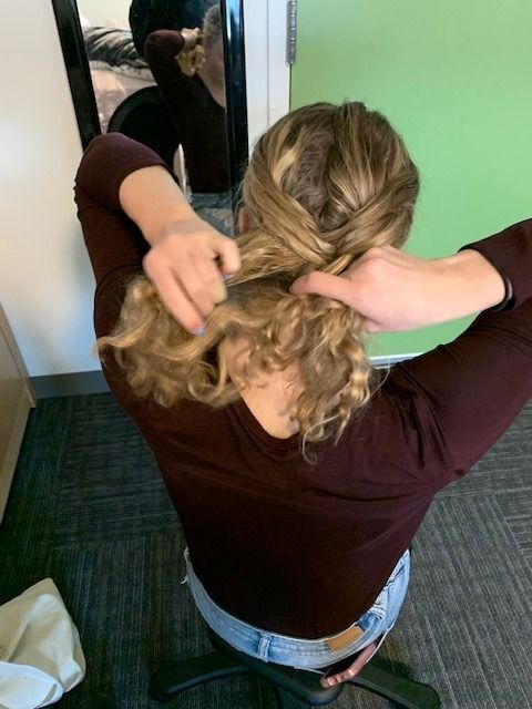 Picture of Keep Repeating Steps 3 and 4 Alternating Each Side Until You Reach the End of Your Hair