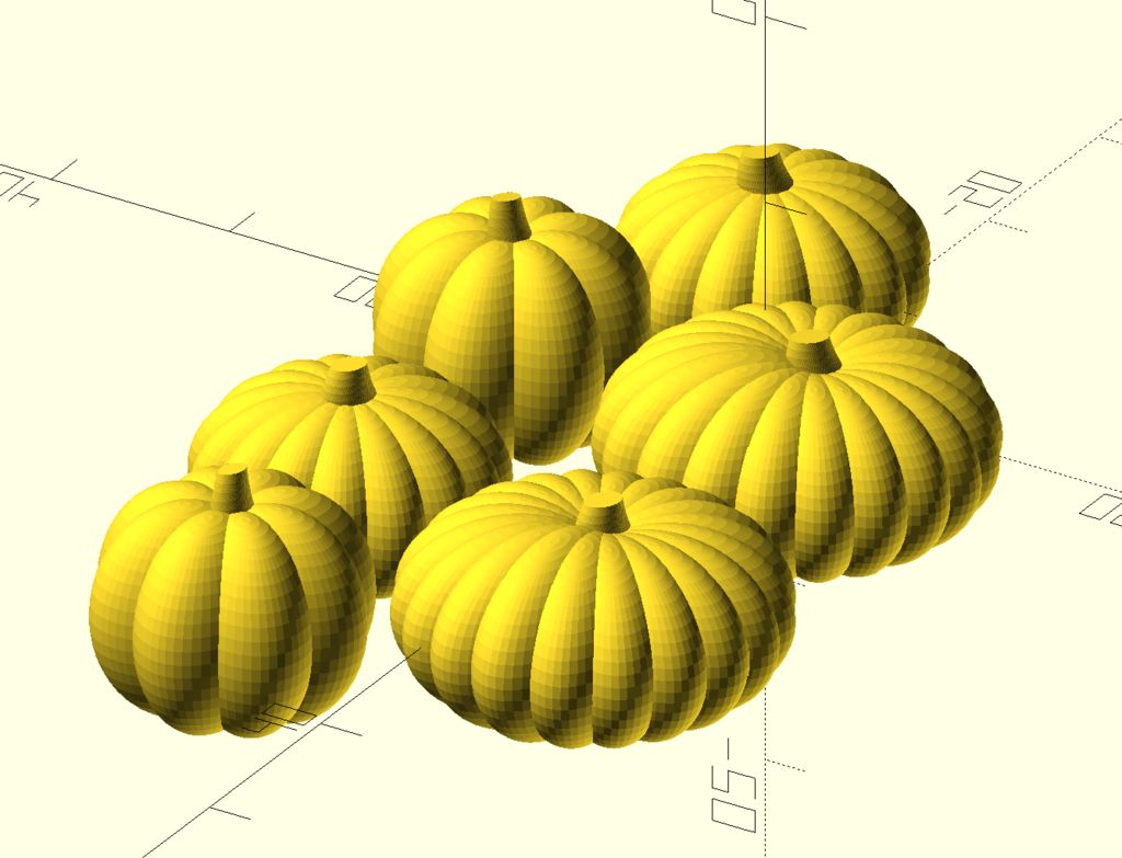 Picture of Create a Set of Various Shaped Pumpkins