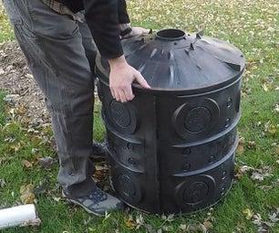 减少堆场和地下室淹水!安装落水管/油底壳干井。