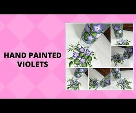 HAND PAINTED VIOLETS