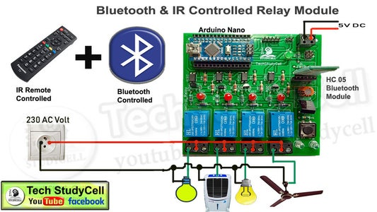 IR and Bluetooth Control Relay Module