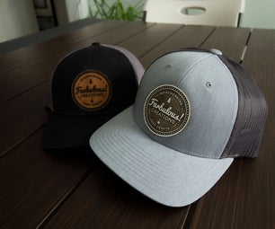 Making a Leather Patch for a Trucker Hat