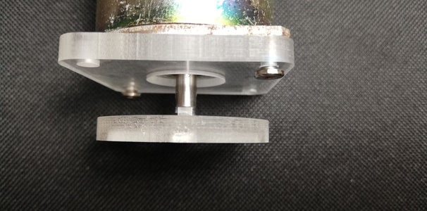 PUT THE MAGNET HOLDER TO THE DC MOTOR AXLE
