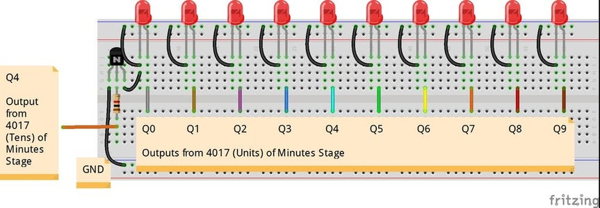 Stage 6: Minutes LEDs (00-59)