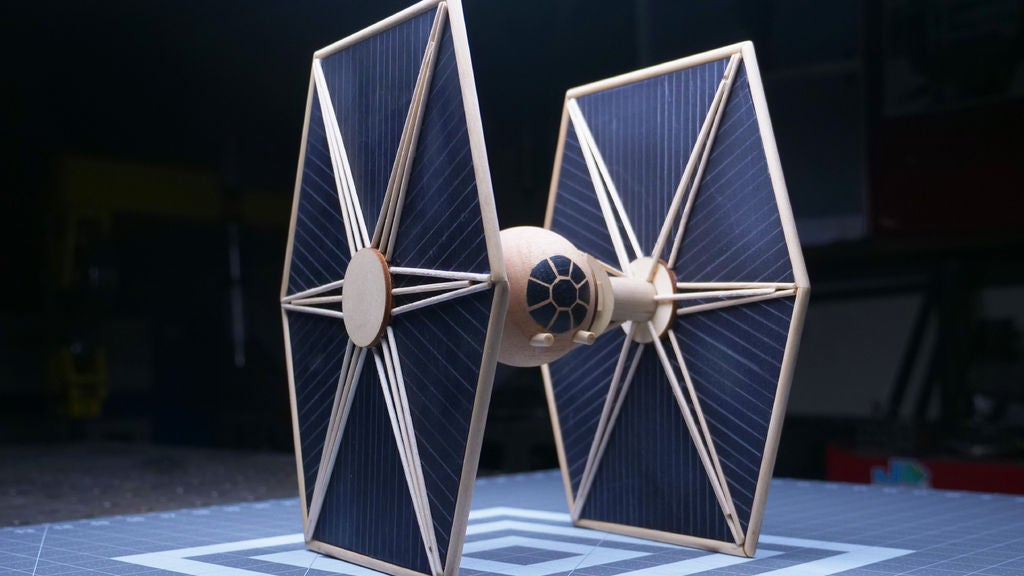 buy sale store best sale Tie Fighter Sculpture (Made With Hand Tools Only)Wooden Star ...
