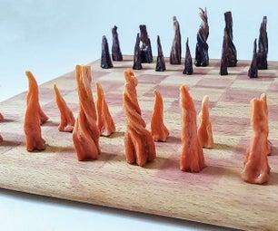 Carrot DIY Chess Set