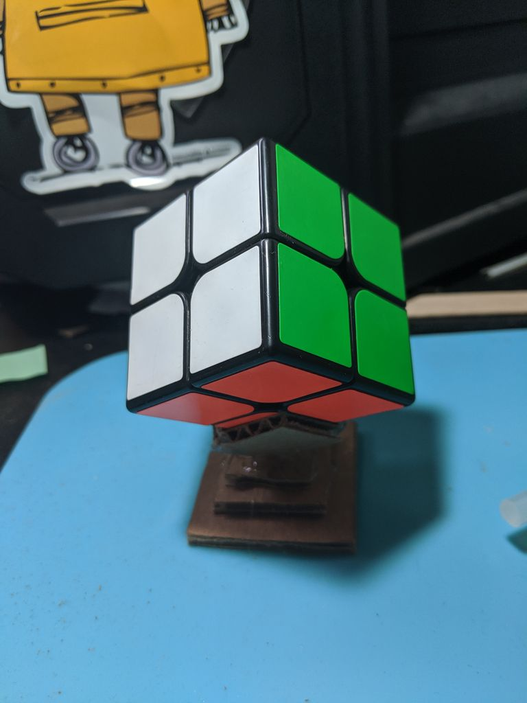 Picture of How to Make a Rubik`s Cube Stand Out of Cardboard