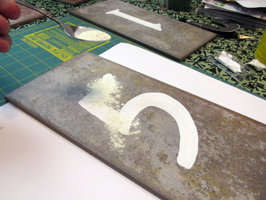 Picture of Making the Tiles- Adding the Glow Powder