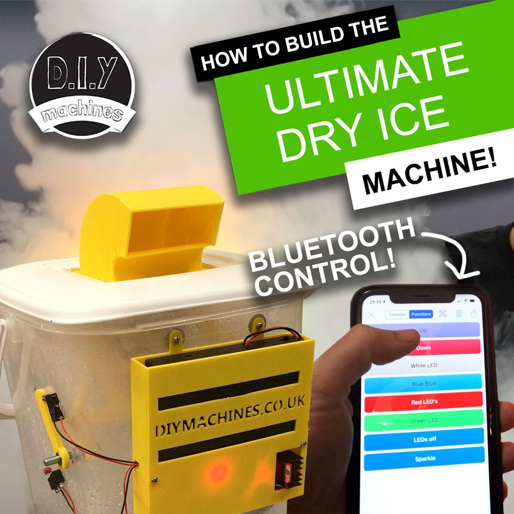 Picture of Ultimate Dry Ice Machine - Bluetooth Controlled, Battery Powered and 3D Printed.