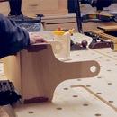 Attach Plywood Bottom, Flush Up Edges & Attach Handle