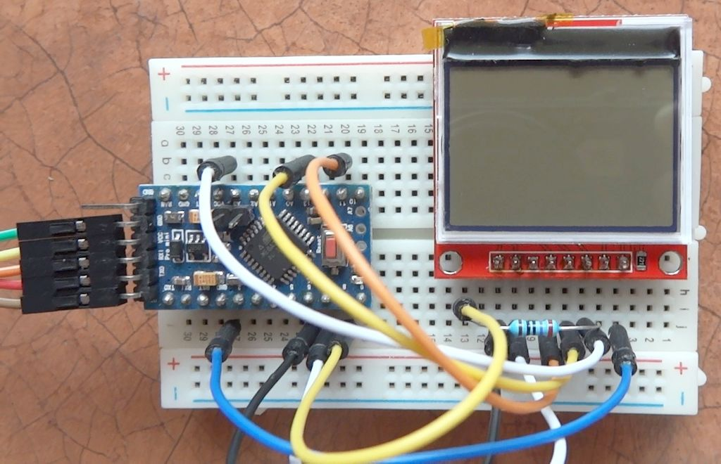 Picture of HX1230 Monochrome LCD in Arduino Projects