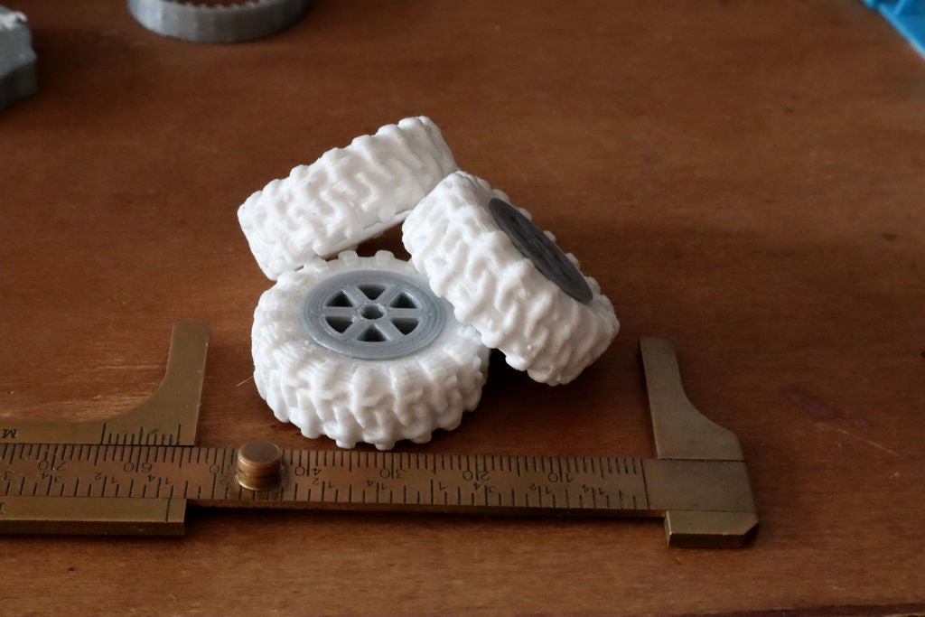 Picture of Grippy, Hollow, Silicone Tires for Robots and RC