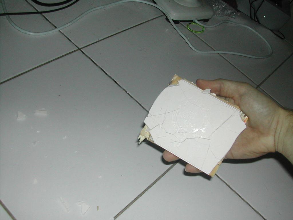 Remove Plaster.