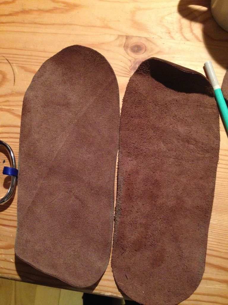 Picture of Cutting and Preparing the Leather Soles