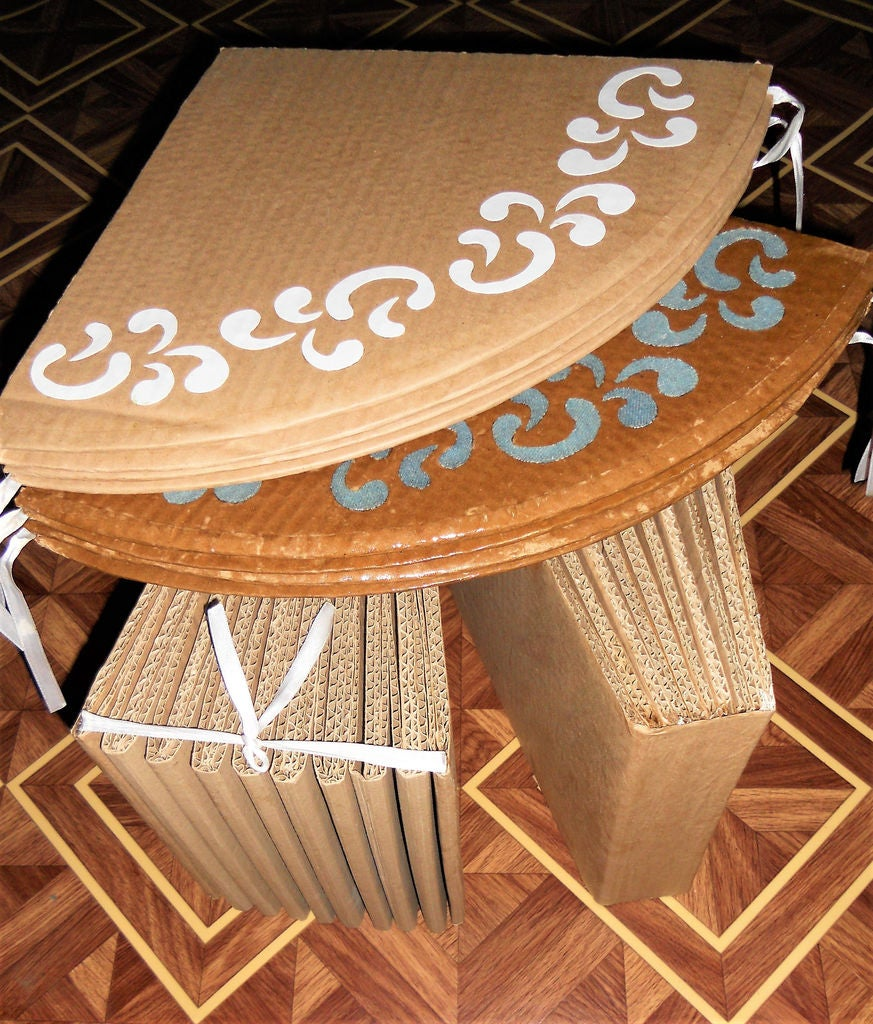 Picture of Packing Your Cardboard Stool-Table