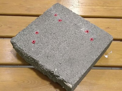 Drilling the Holes on the Tile Base