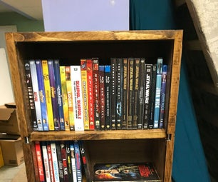 LED DVD and Blu-ray Shelf
