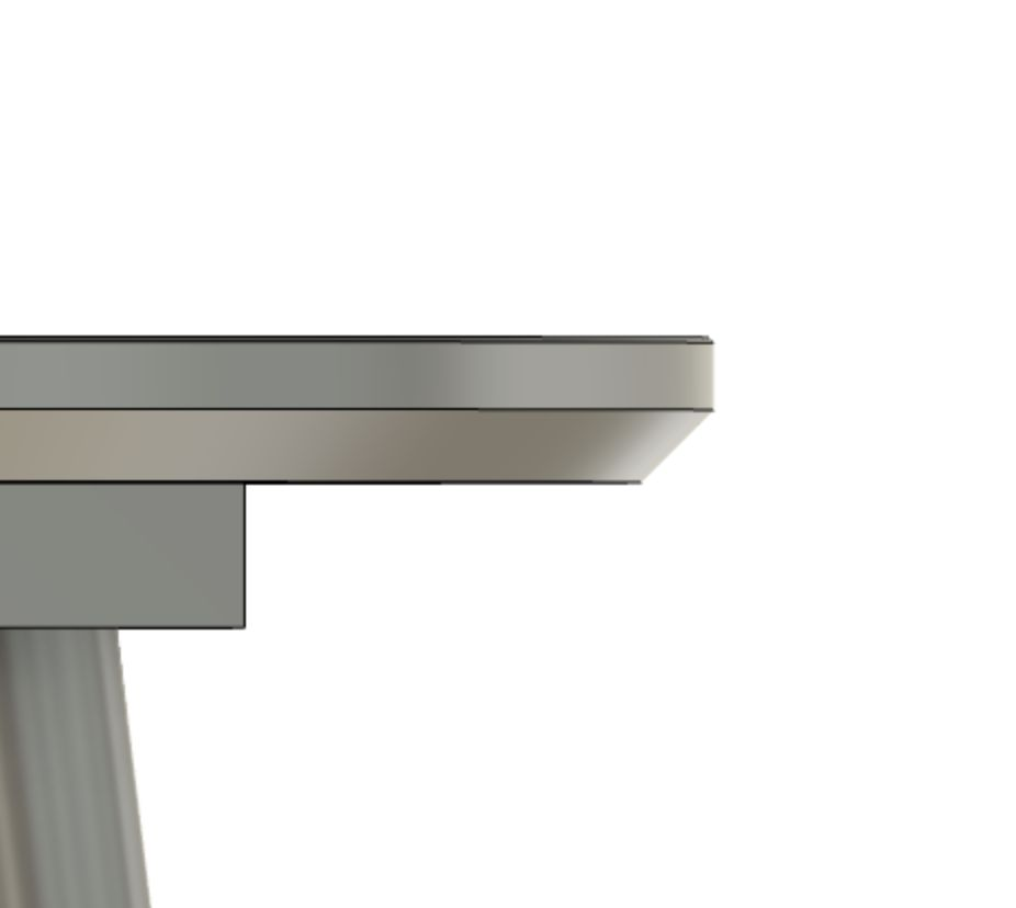 Picture of Add a Chamfer to the Top and Bottom of Your Table