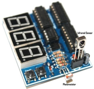 Infrared and Laser Operated Digital Objects Counter