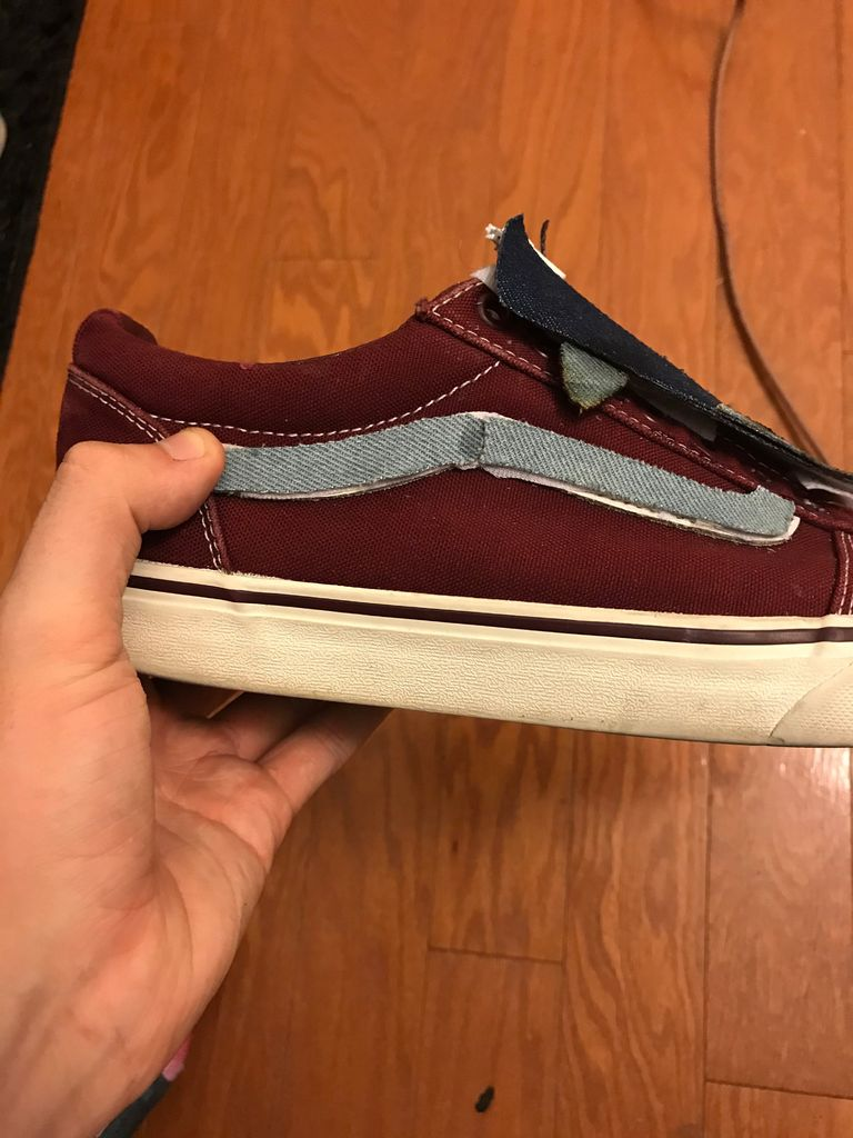 "Picture of Add Velcro to the ""stripe"""