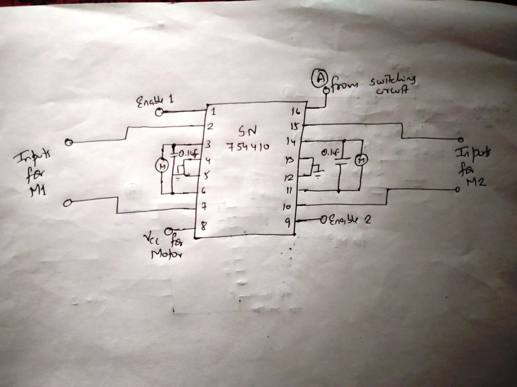 Picture of Motor Driver Circuit