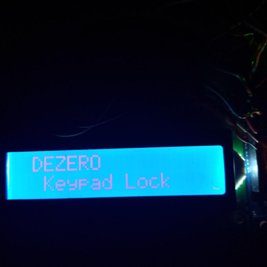 Picture of Arduino Password Door Lock (TEST)