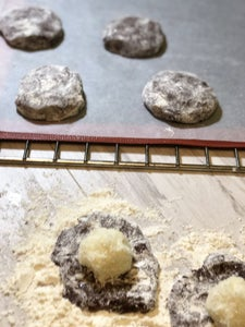 Making the Coconut Chocolate Cookies