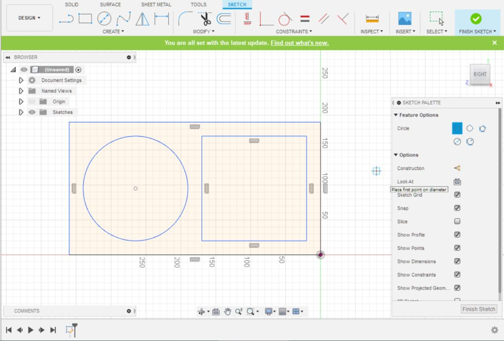 Picture of Fusion 360 Design: Sketching the Second Cutout