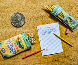微型铅笔和彩色铅笔