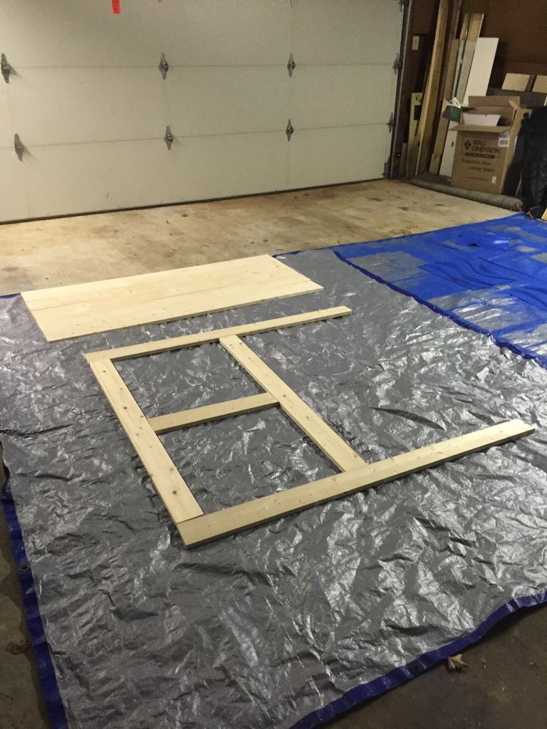 Picture of Lay Out the Headboard Frame on the Floor.