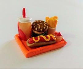 Miniature Fast Food Set