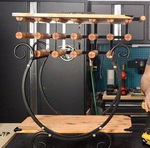 Attach Wine Rack to Firewood Rack